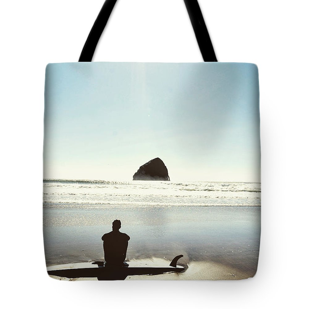 Tote Bag featuring the photograph The Resting Surfer by Brandon Larson