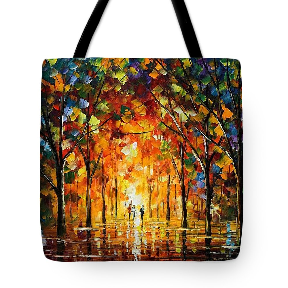 Afremov Tote Bag featuring the painting The Return Of The Sun by Leonid Afremov