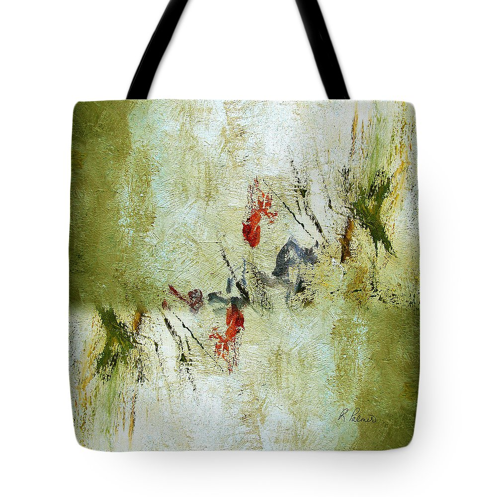 Abstract Tote Bag featuring the painting The Reversal by Ruth Palmer