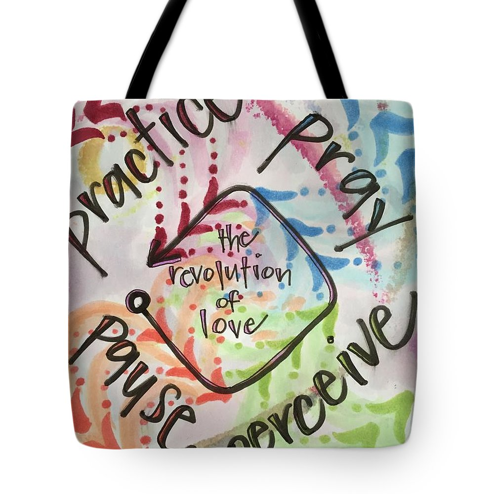 Love Tote Bag featuring the painting The Revolution of Love by Vonda Drees