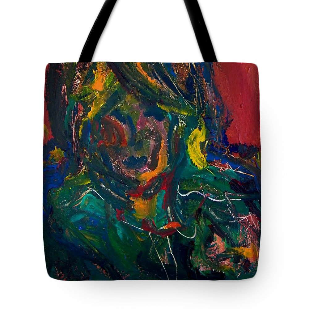 Abstract Tote Bag featuring the painting The Richness Of The Soul by Judith Redman