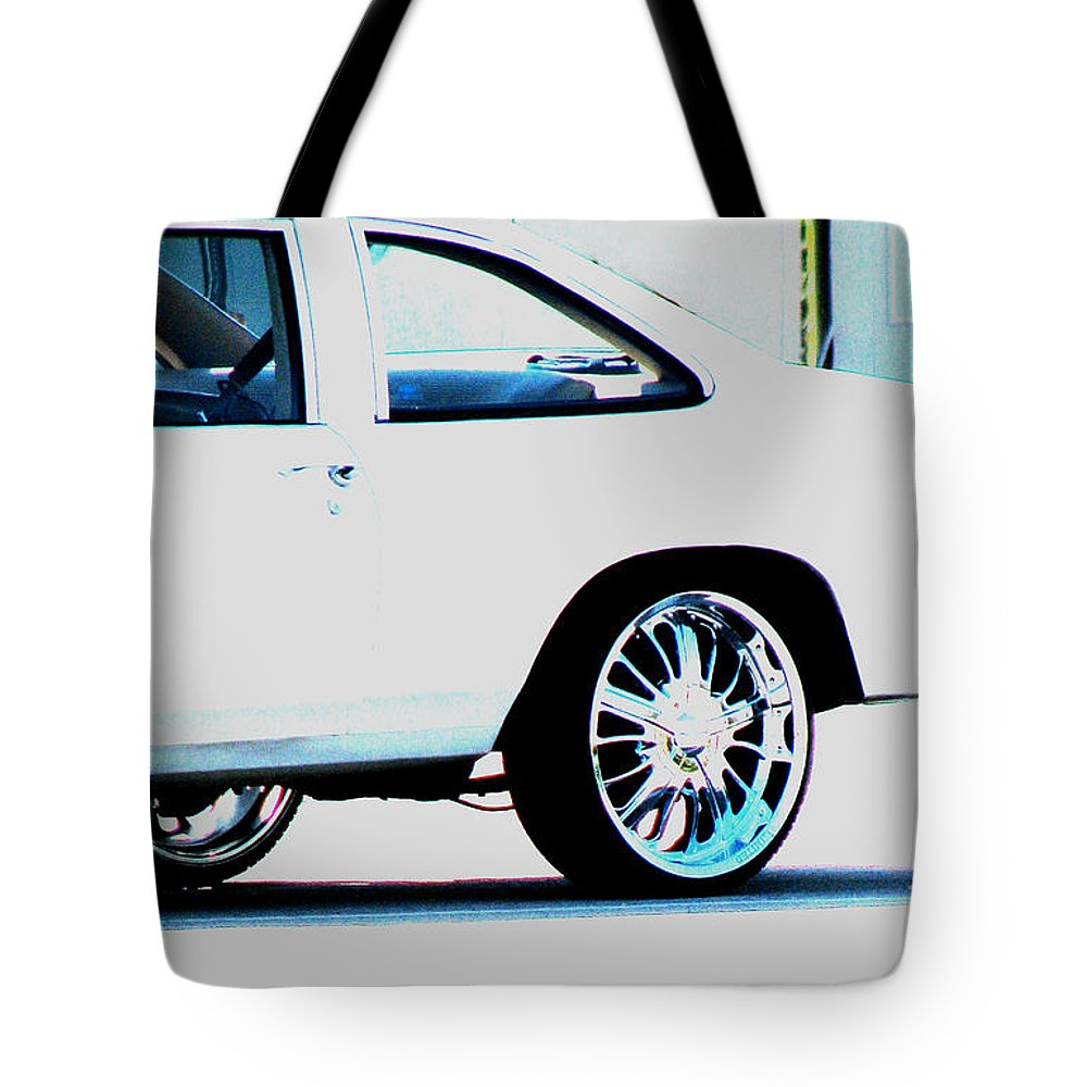 Car Tote Bag featuring the photograph The Ride by Amanda Barcon