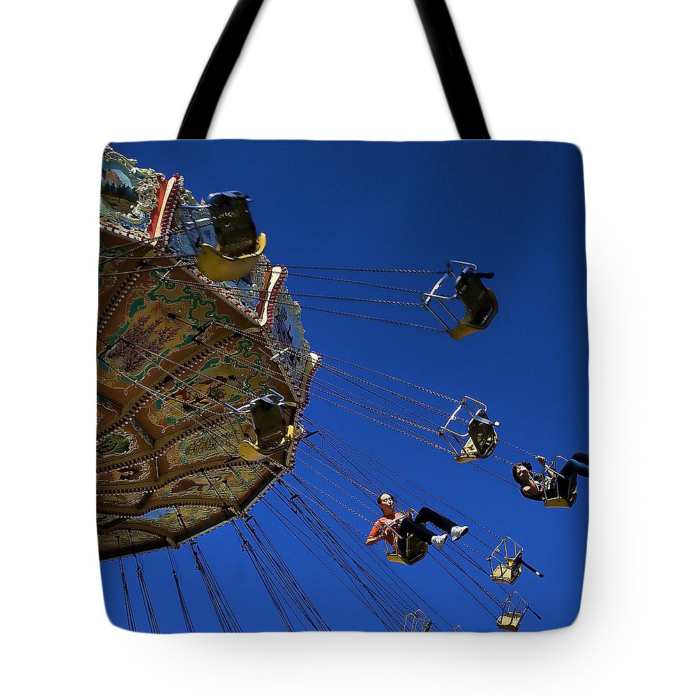 Puyallup Fair Tote Bag featuring the photograph The Ride by David Patterson