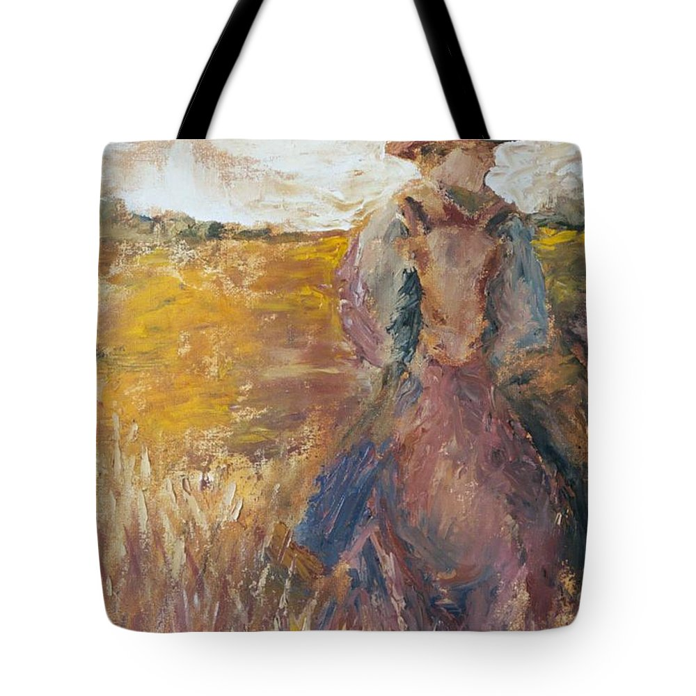 Rider Tote Bag featuring the painting The Rider by Jun Jamosmos