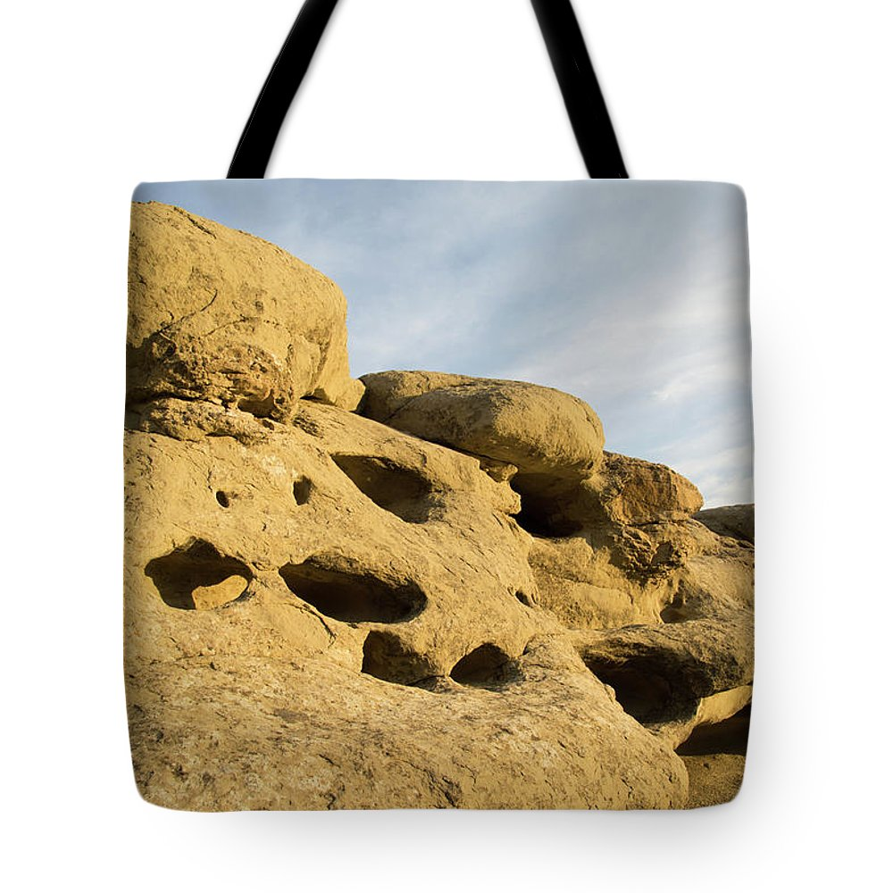 Billings Tote Bag featuring the photograph The Rims At Sunset by Teresa Otto