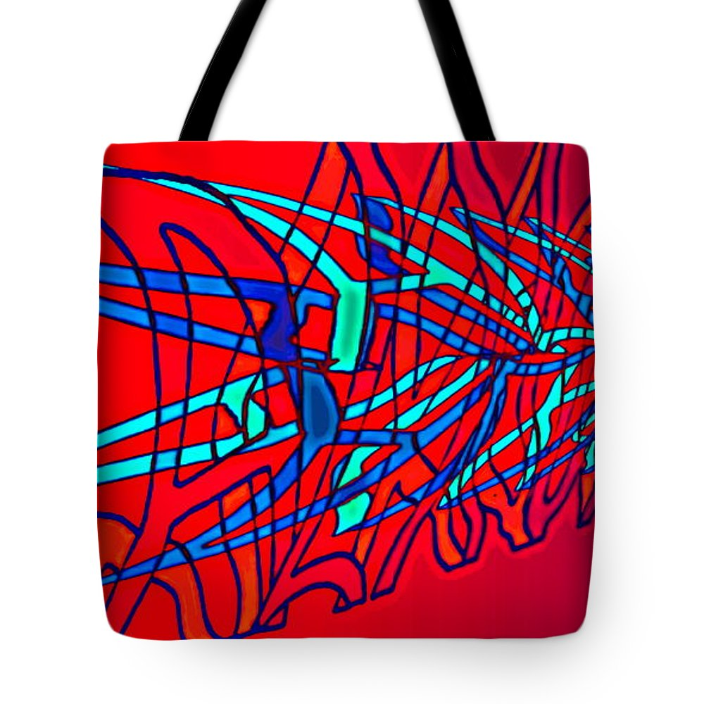 C2 Tote Bag featuring the digital art The Risc Of Alcohol by Helmut Rottler