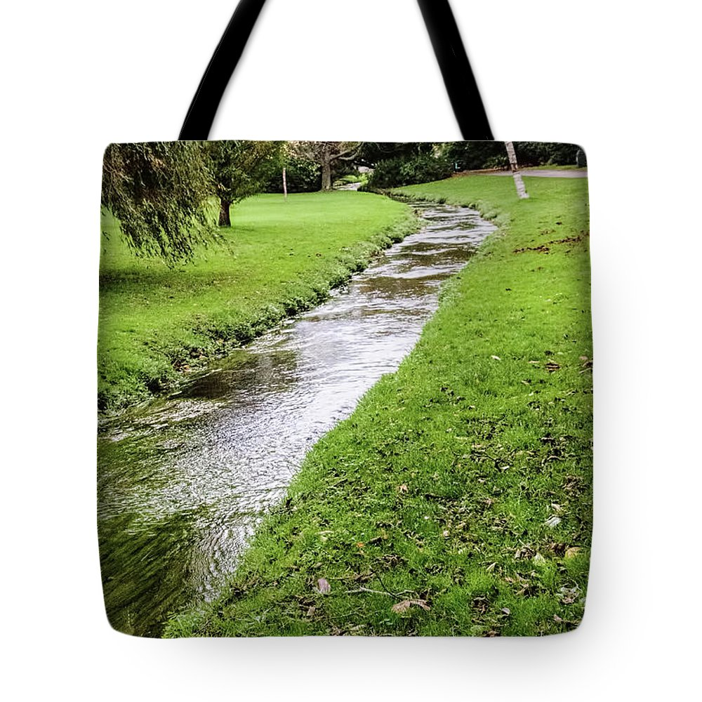 The River Bourne Tote Bag featuring the photograph The River Bourne by Phyllis Taylor