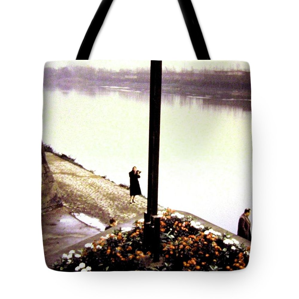 1955 Tote Bag featuring the photograph The River Seine 1955 by Will Borden
