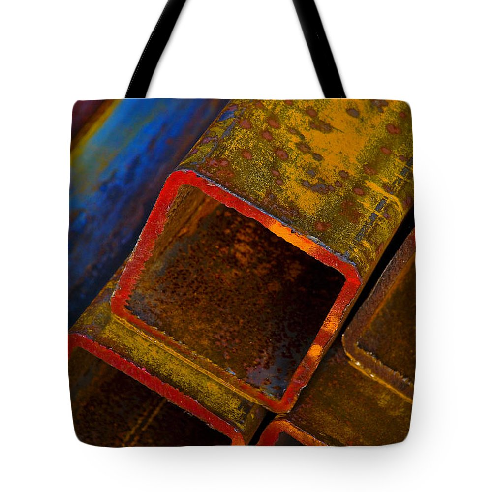 Abstract Tote Bag featuring the photograph The River by Skip Hunt