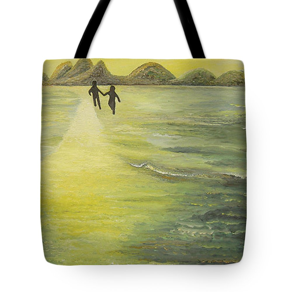 Soul Tote Bag featuring the painting The Road In The Ocean Of Light by Karina Ishkhanova
