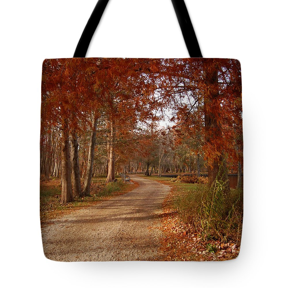 Roads Tote Bag featuring the digital art The Road Untraveled by Jinell K