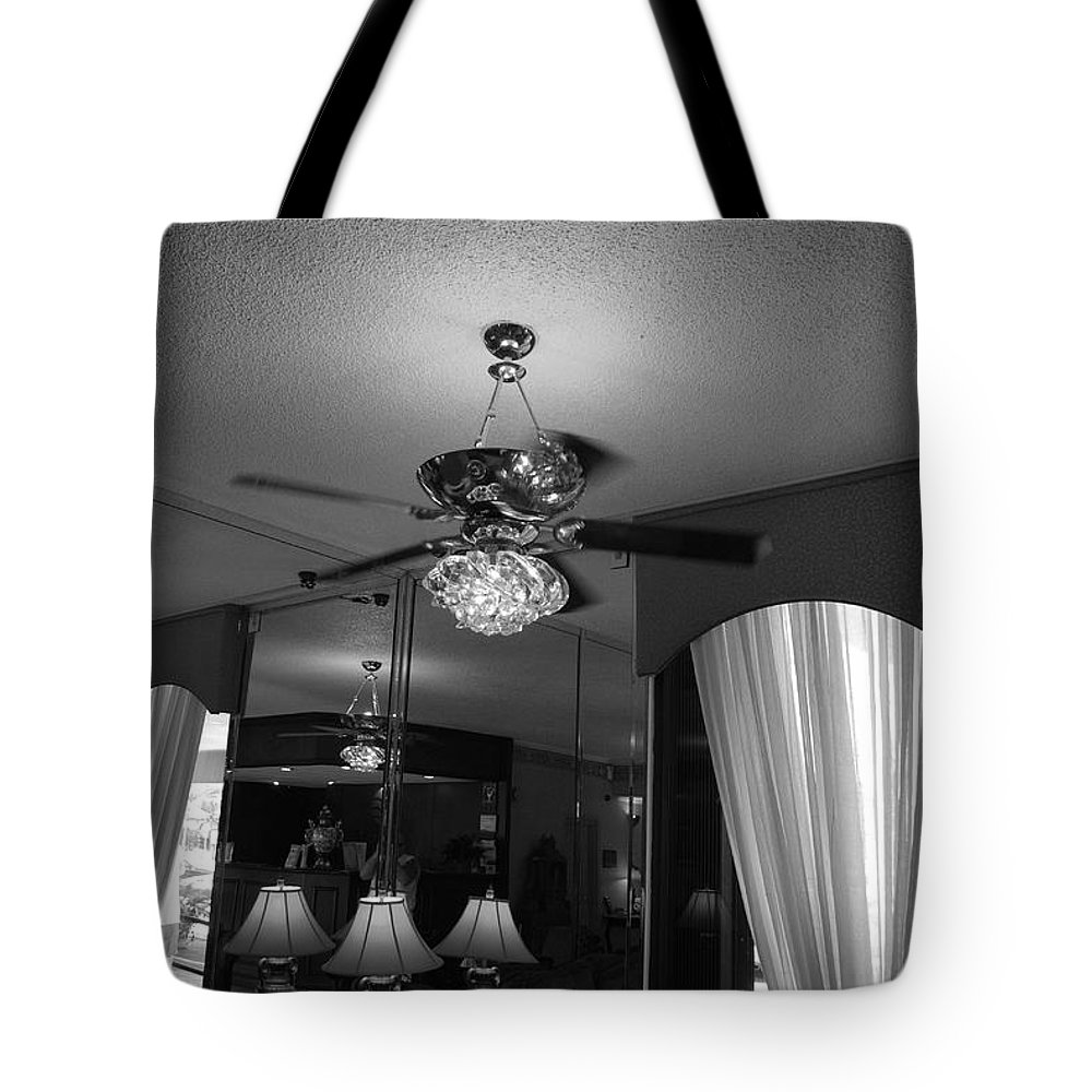 Black And White Tote Bag featuring the photograph The Room With Many Views by Rob Hans