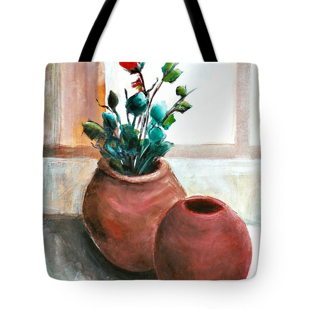 Rose Tote Bag featuring the painting The Rose by Jun Jamosmos