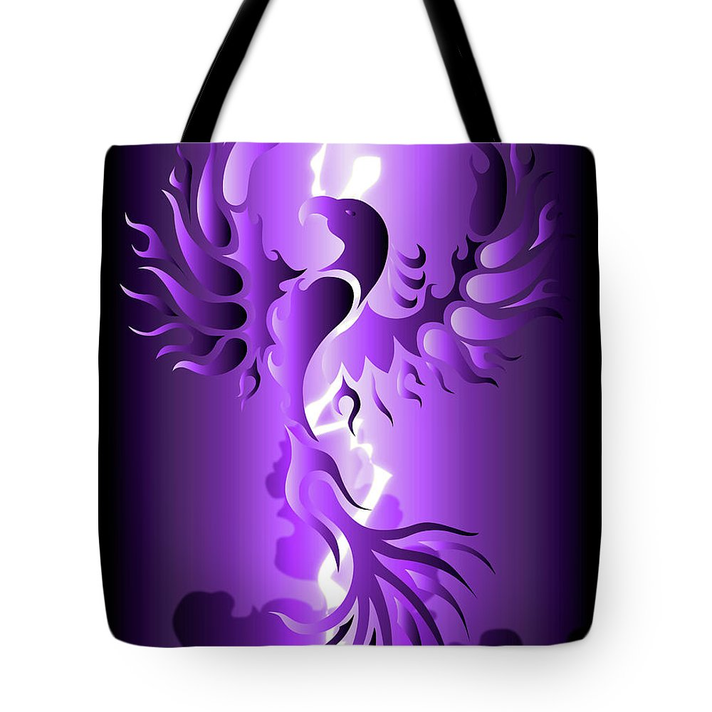 Digital Art Tote Bag featuring the digital art The Royal Phoenix by Robert Ball