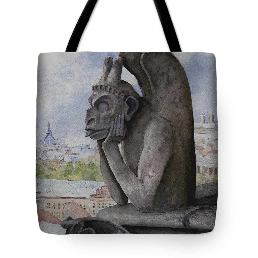 Notre Dame Tote Bag featuring the painting The Same Old Thing by Sam Sidders