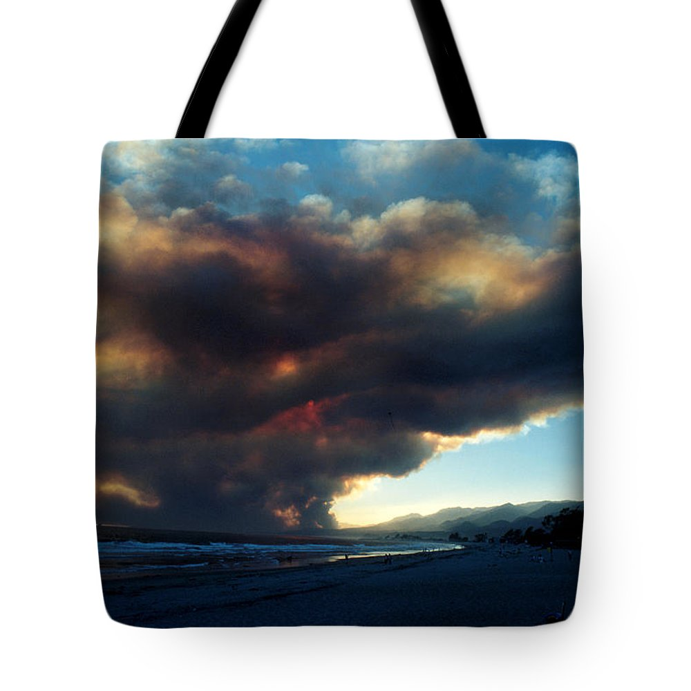 Santa Barbara Tote Bag featuring the photograph The Santa Barbara Fire by Jerry McElroy