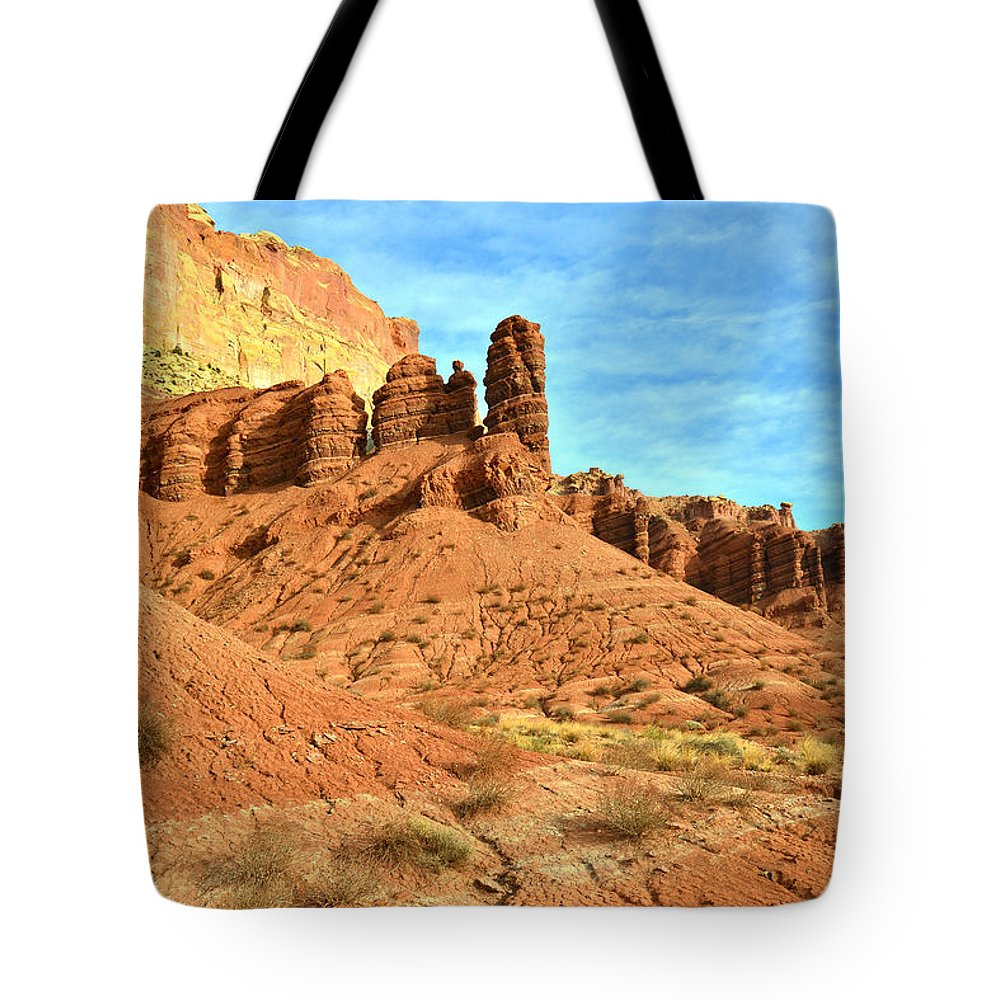 Capitol Reef National Park Tote Bag featuring the photograph The Scenic Drive II by Ray Mathis