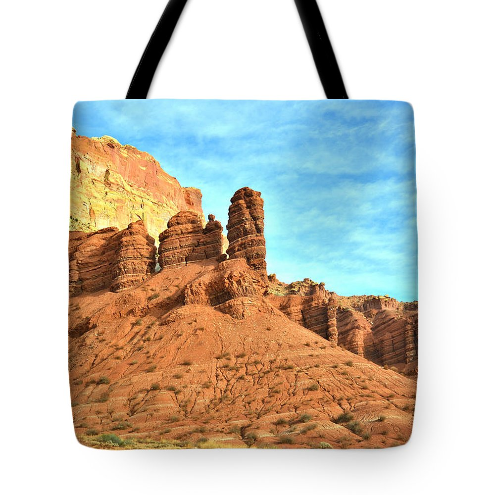 Capitol Reef National Park Tote Bag featuring the photograph The Scenic Drive by Ray Mathis