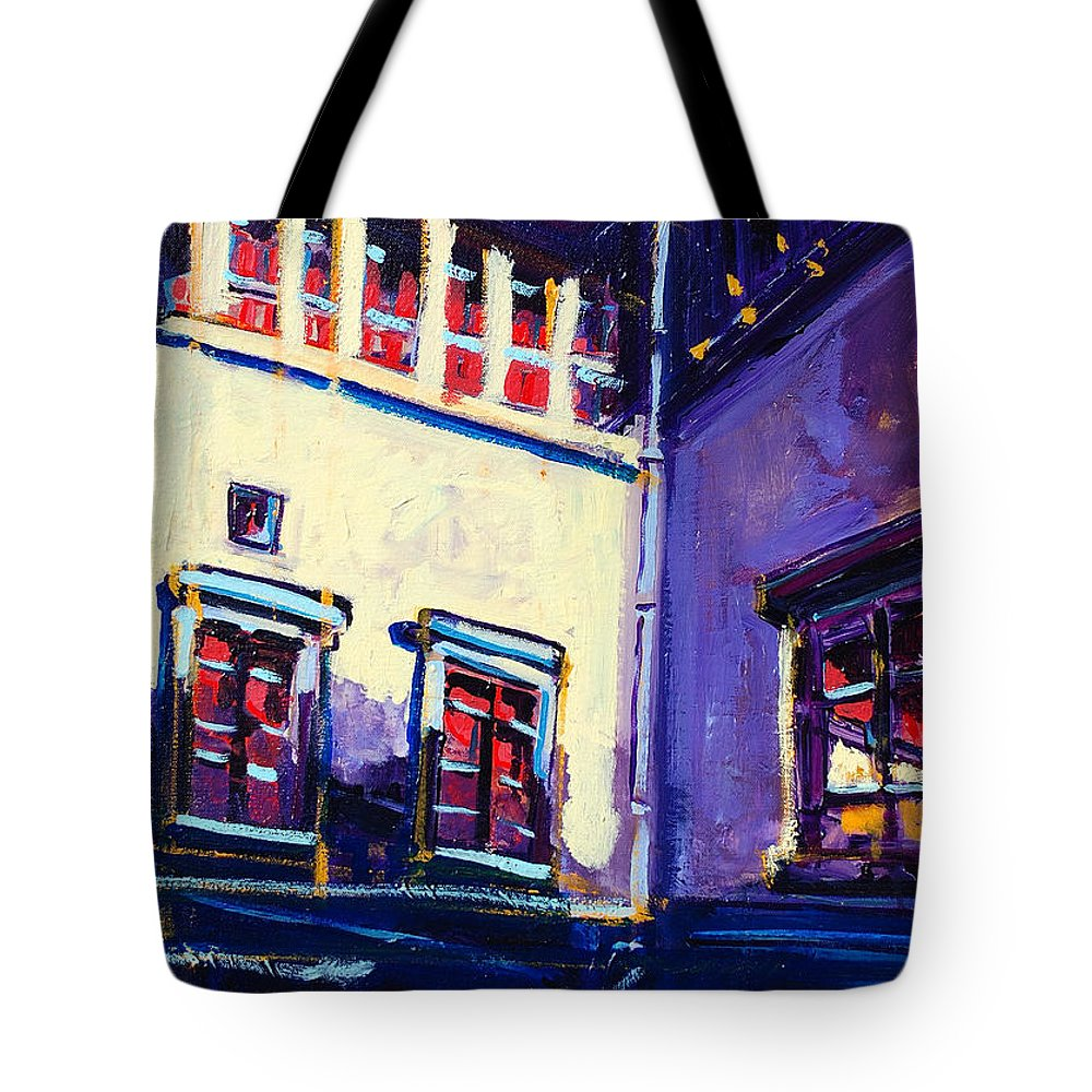 School Tote Bag featuring the painting The School by Kurt Hausmann