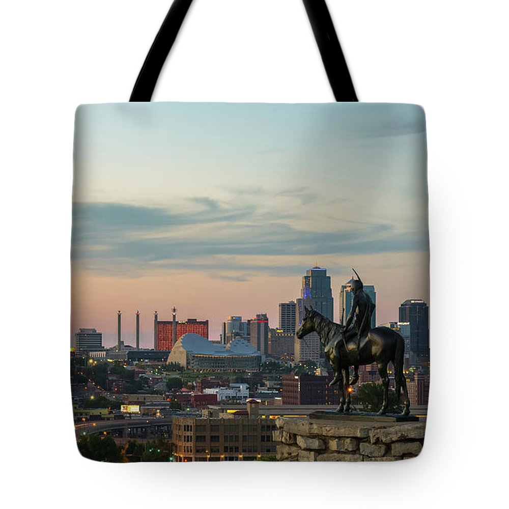 Kansas City Tote Bag featuring the photograph The Scout by Ryan Heffron
