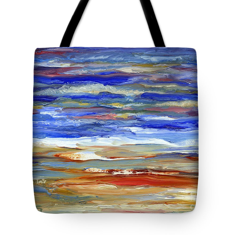 Ocean Painting Tote Bag featuring the painting The Sea by Pamela Parsons