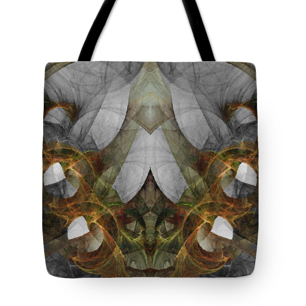 Abstract Tote Bag featuring the digital art The Second Labor Of Herakles by NirvanaBlues