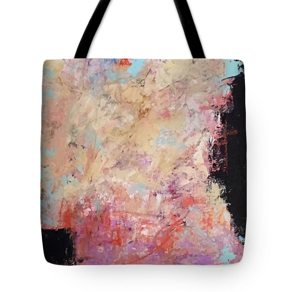 Abstract Art Tote Bag featuring the painting The Secret In Our Busy Lives by Suzzanna Frank