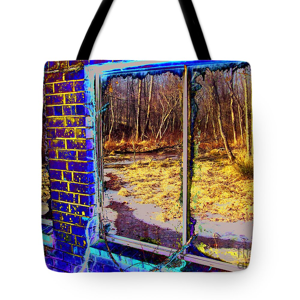 Landscape Tote Bag featuring the photograph The Secret Window by Kimmary MacLean