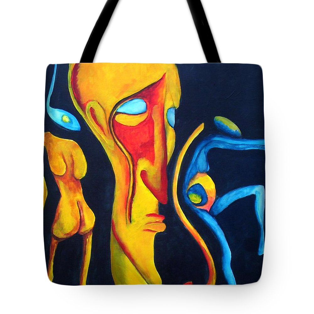 Tote Bag featuring the painting The Seed by Veronica Jackson