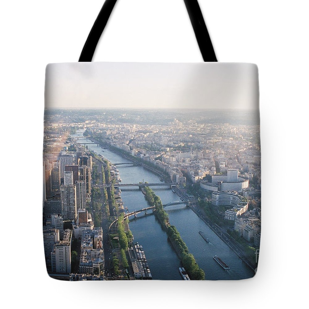 City Tote Bag featuring the photograph The Seine River In Paris by Nadine Rippelmeyer