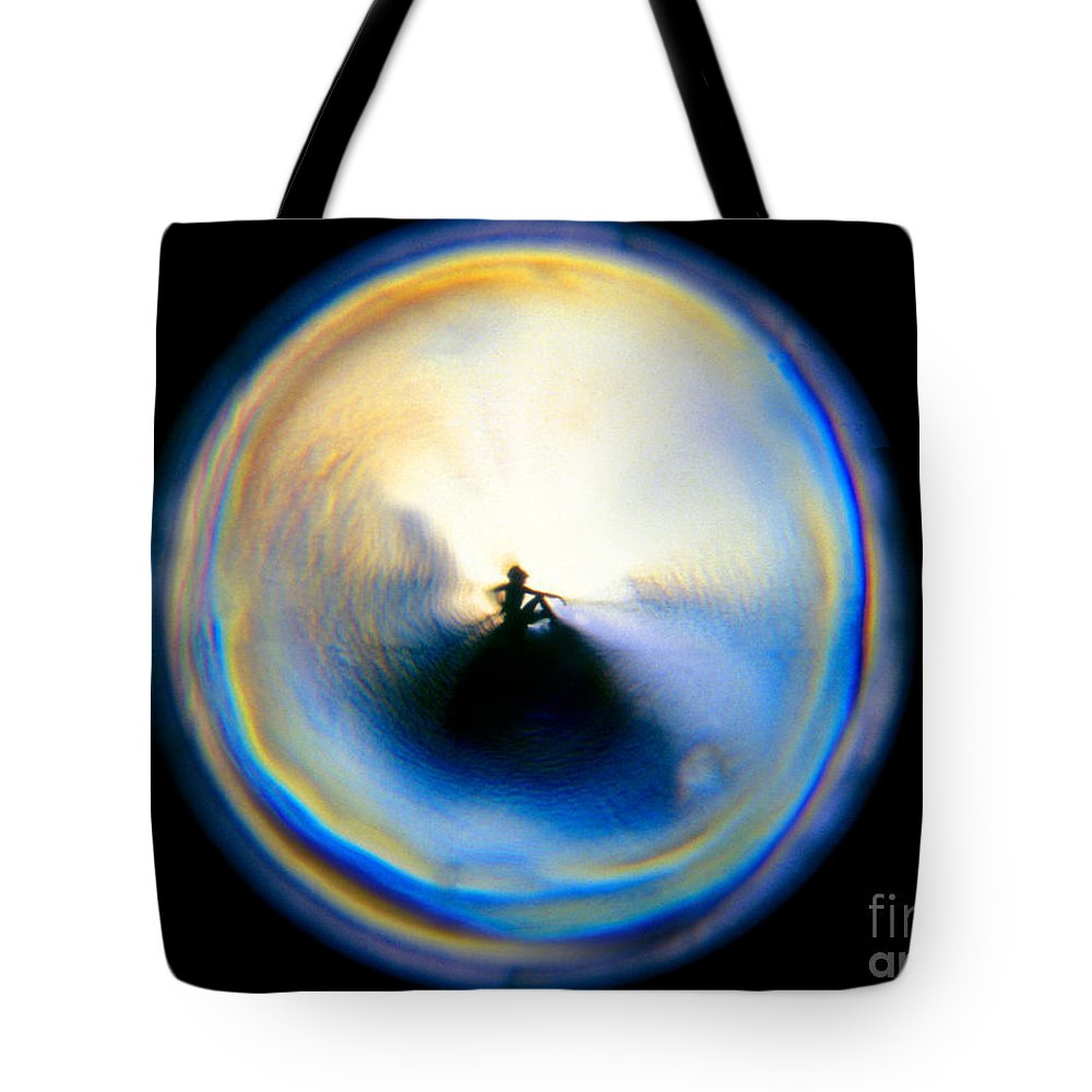 Round Tote Bag featuring the photograph The Self In Introspection by Wernher Krutein