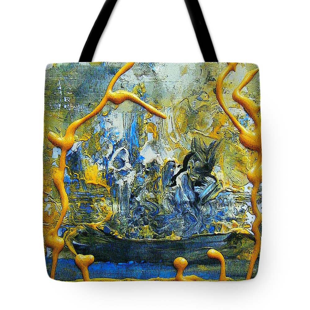 Abstract Tote Bag featuring the painting The Seven Sins- Greed by Colleen Ranney