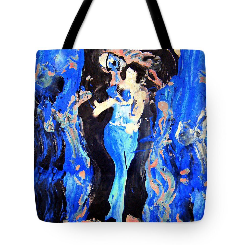The Seven Sins Tote Bag featuring the painting The Seven Sins- Lust by Colleen Ranney