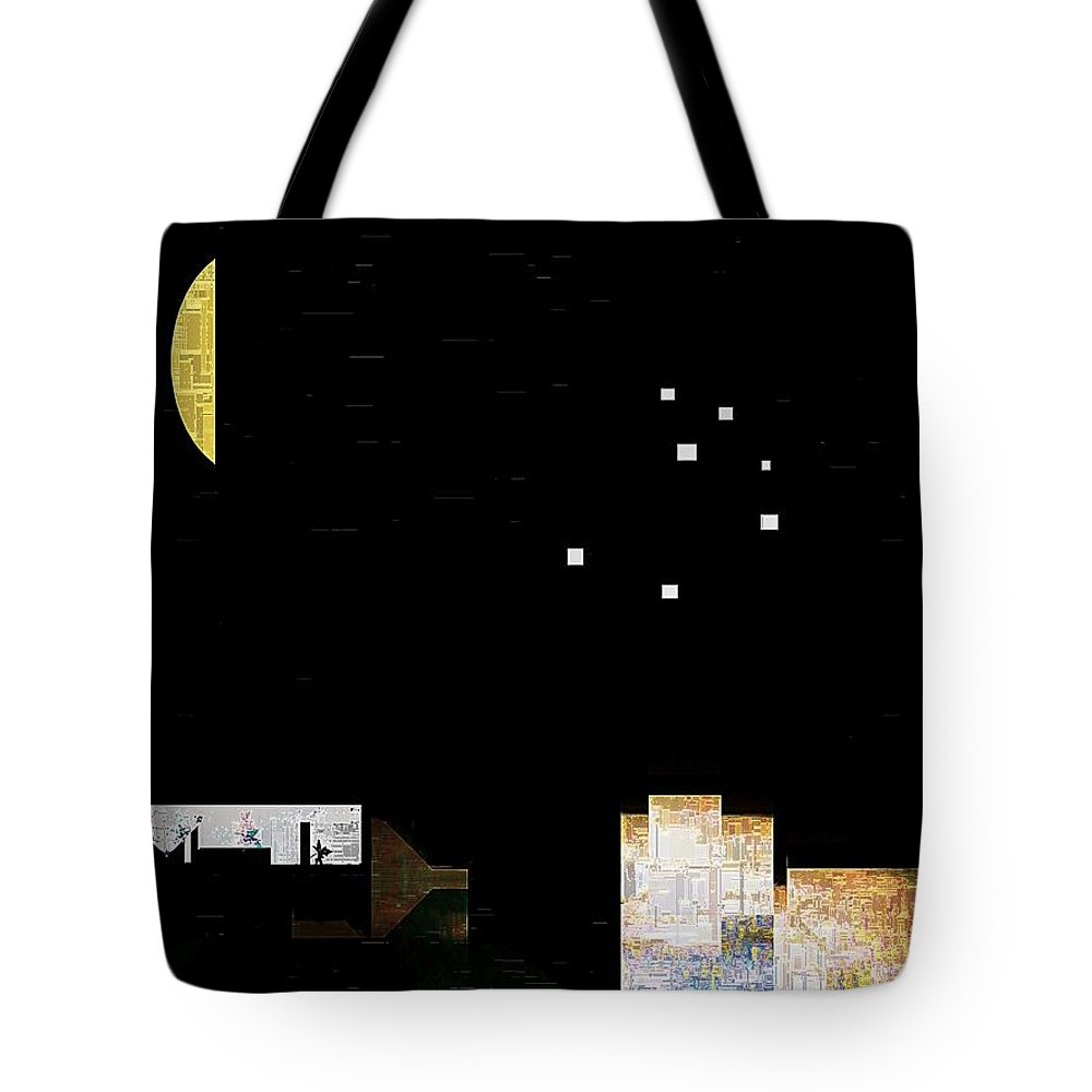 City Tote Bag featuring the painting The Seven Sisters by RC DeWinter