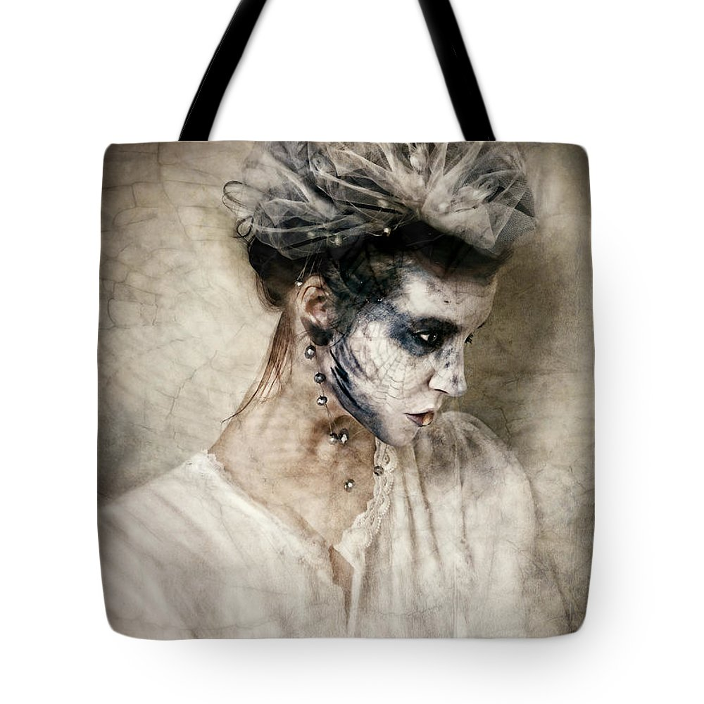 Cobwebs Tote Bag featuring the photograph The Shade Of Havisham by Spokenin RED