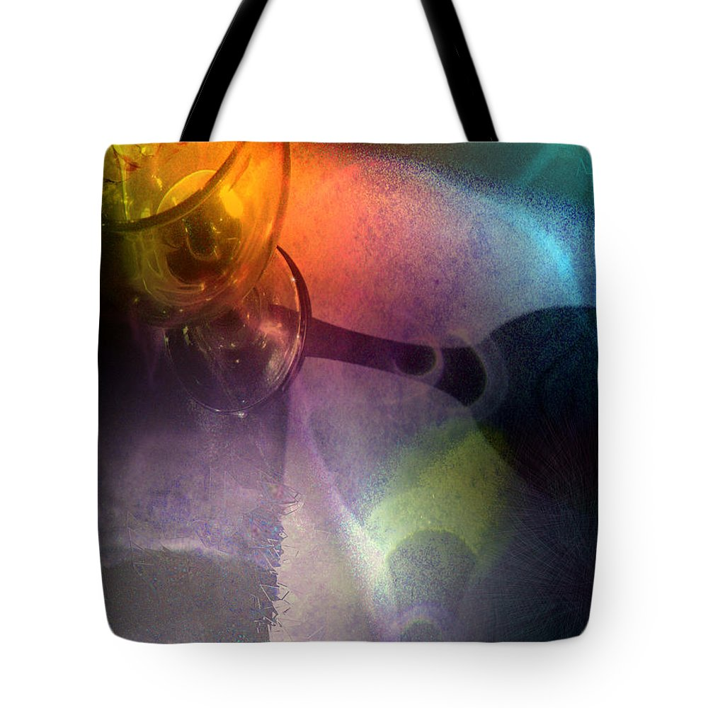 Fantasy Tote Bag featuring the painting The Shadow Of Your Smile by Miki De Goodaboom
