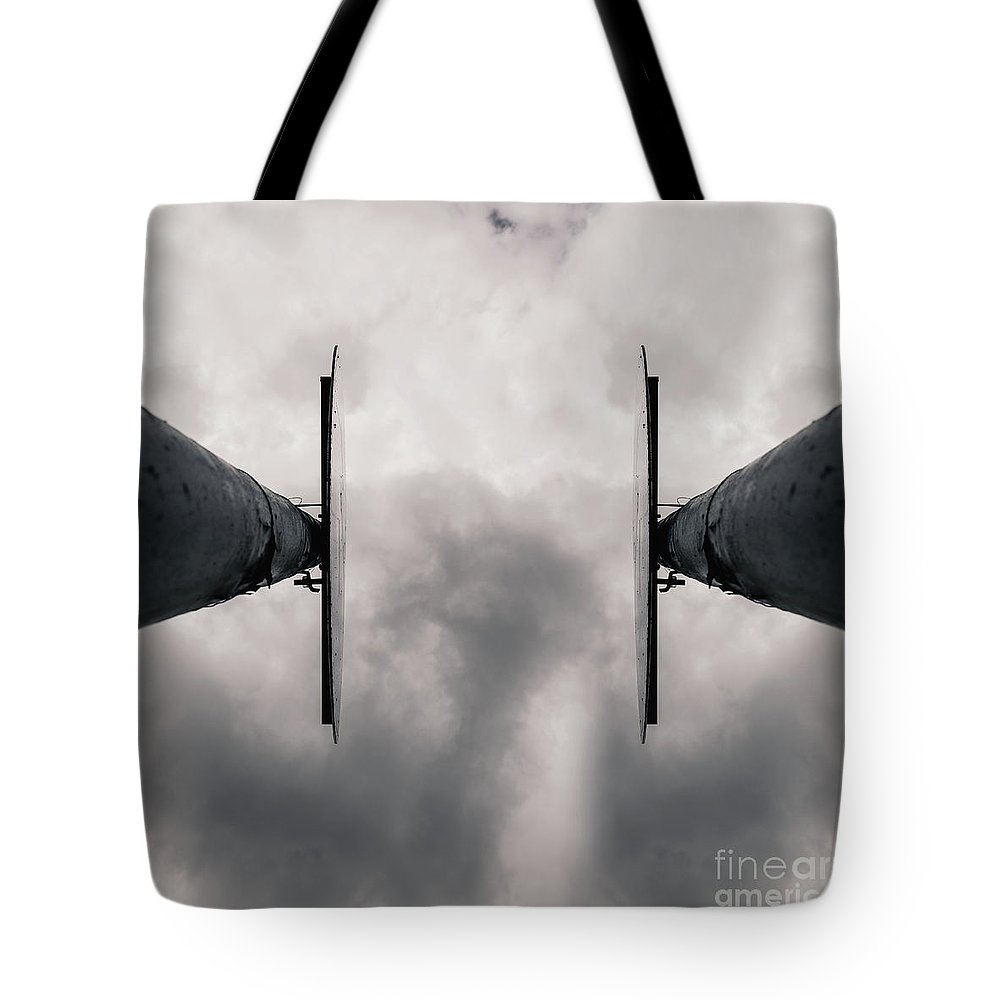 Two Signs Tote Bag featuring the photograph The Sign by Benjamin Harte