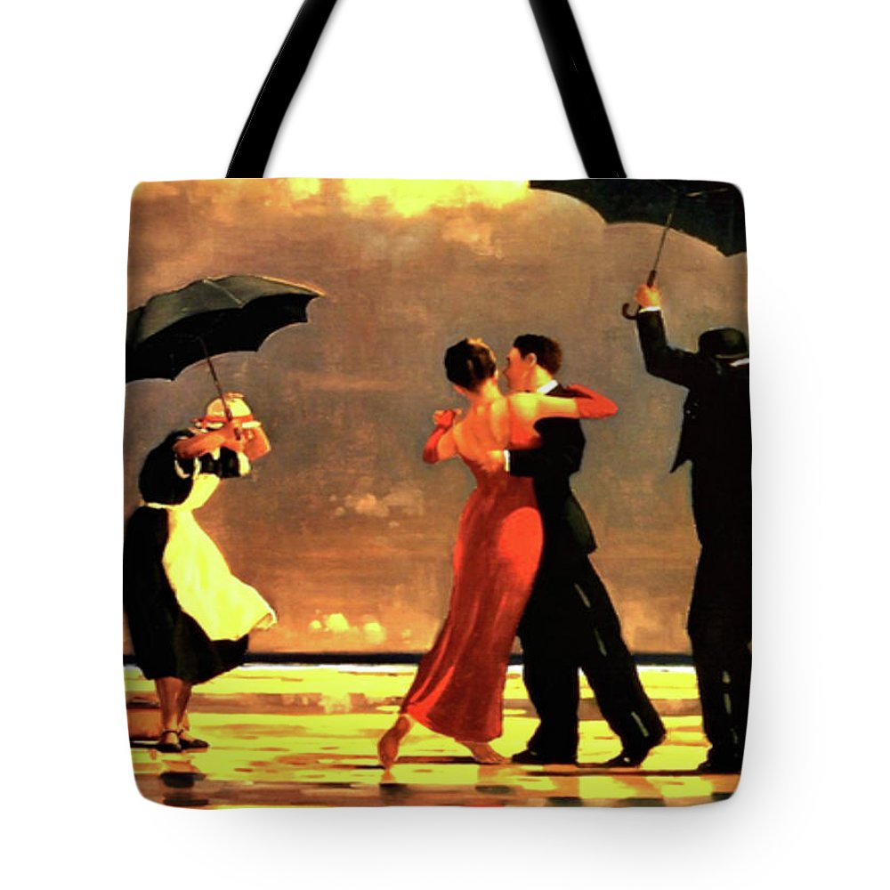 Jack Vettriano Tote Bag featuring the painting The Singing Butler by Jack Vettriano