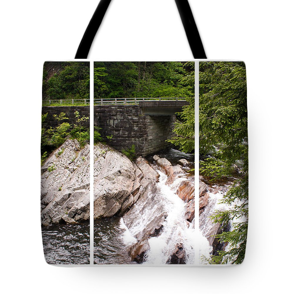 The Sinks Smoky Mountains Triptych Tote Bag featuring the photograph The Sinks Smoky Mountains Triptych by Cynthia Woods