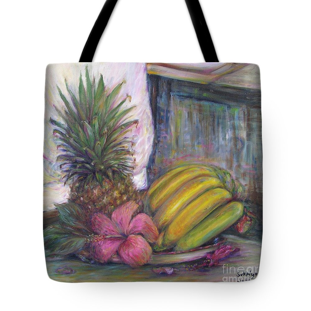 Still Life Tote Bag featuring the painting The Smell Of South East Asia by Sukalya Chearanantana