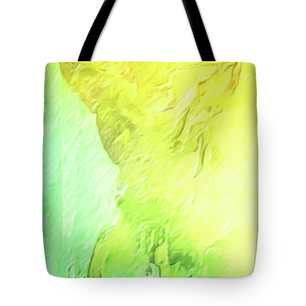 Smug Tote Bag featuring the painting The Smug Statue by Joaquin Abella