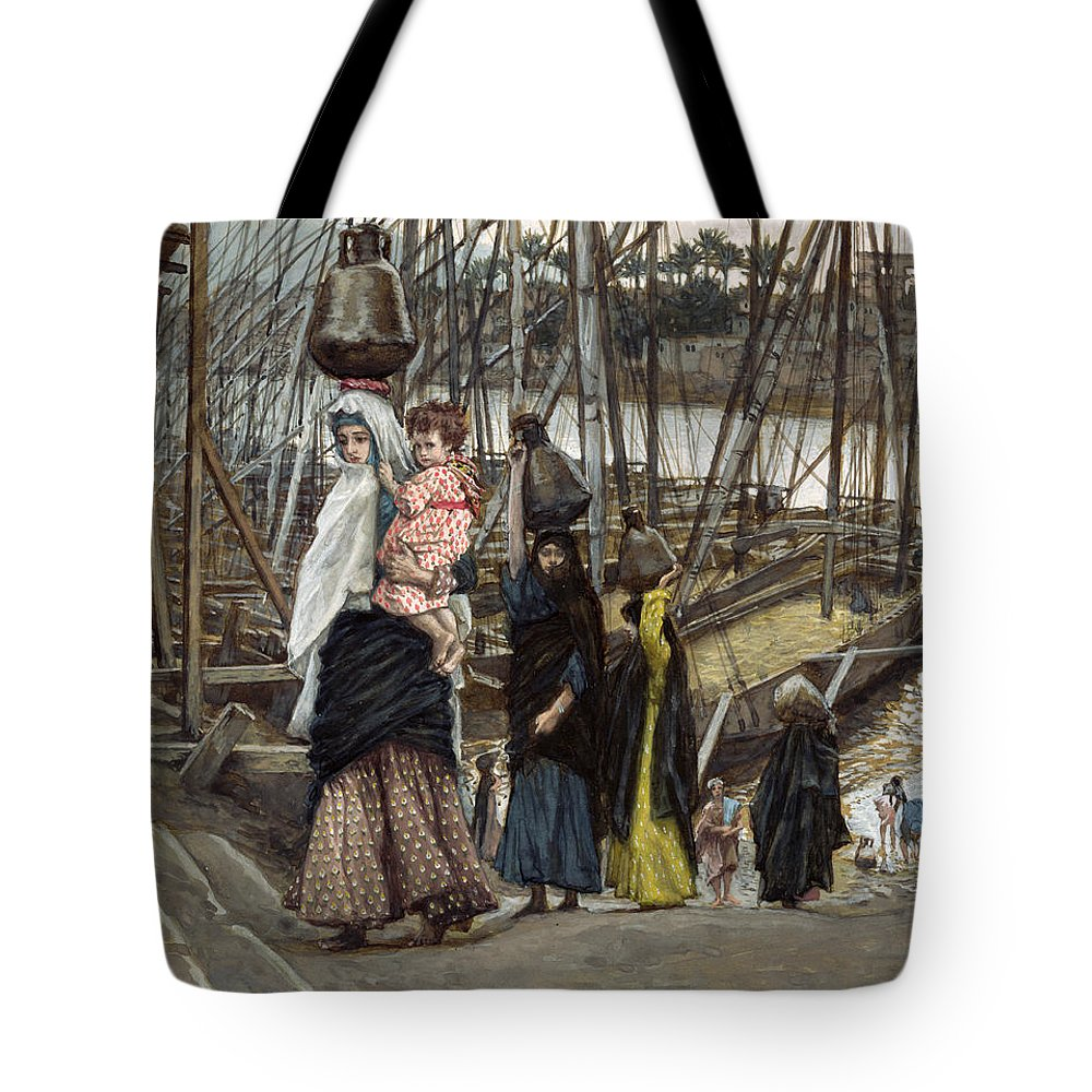 Tote Bag featuring the painting The Sojourn by Tissot