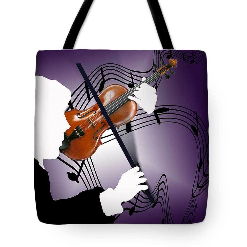 Violin Tote Bag featuring the digital art The Soloist by Steve Karol