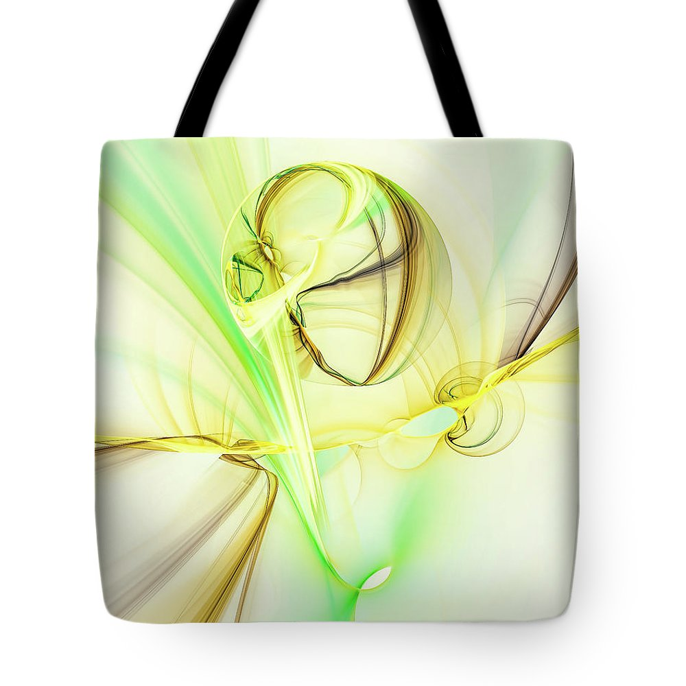 Abstract Background Tote Bag featuring the digital art The Song Of The Sun by Marfffa Art