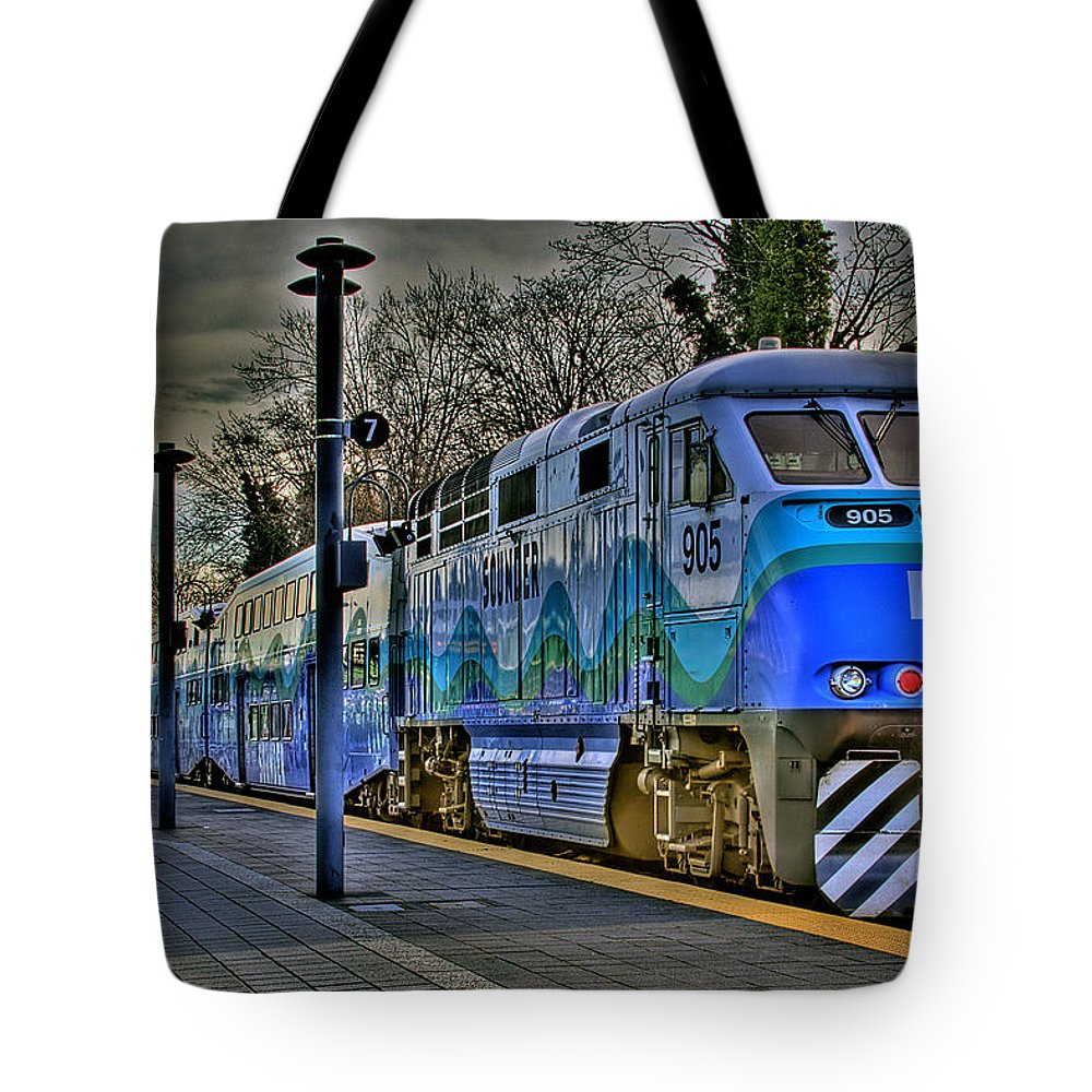 Train Tote Bag featuring the photograph The Sounder by David Patterson