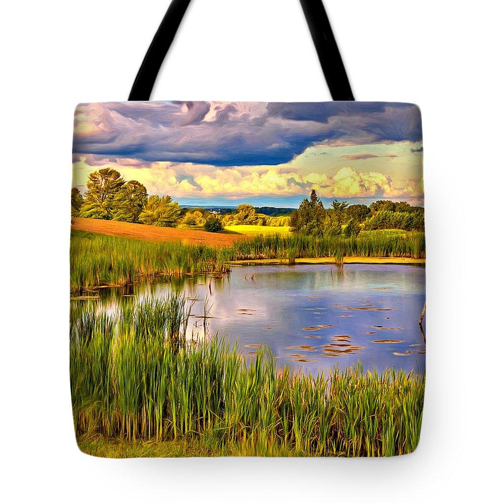 Landscape Tote Bag featuring the photograph The Source - Paint by Steve Harrington