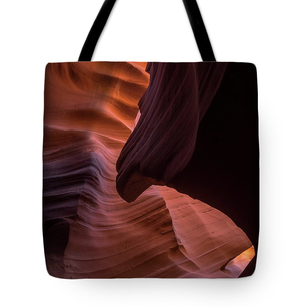 Antelope Canyon Tote Bag featuring the photograph The Sphinx by Rob Wilson