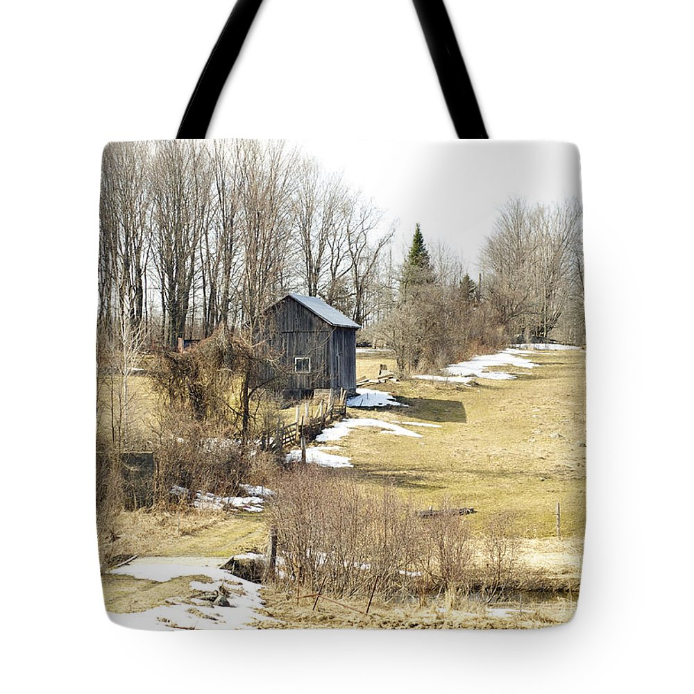 Melt Tote Bag featuring the photograph The Spring Melt by Elaine Mikkelstrup