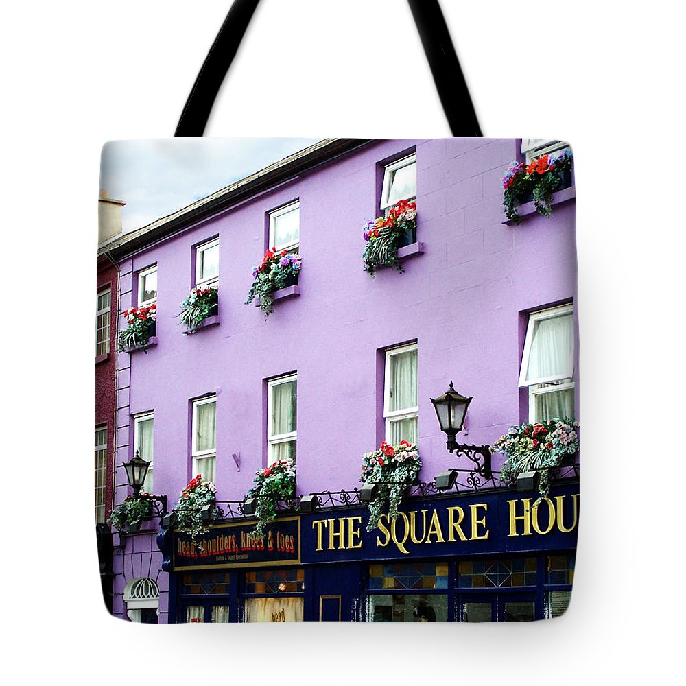 Irish Tote Bag featuring the photograph The Square House Athlone Ireland by Teresa Mucha