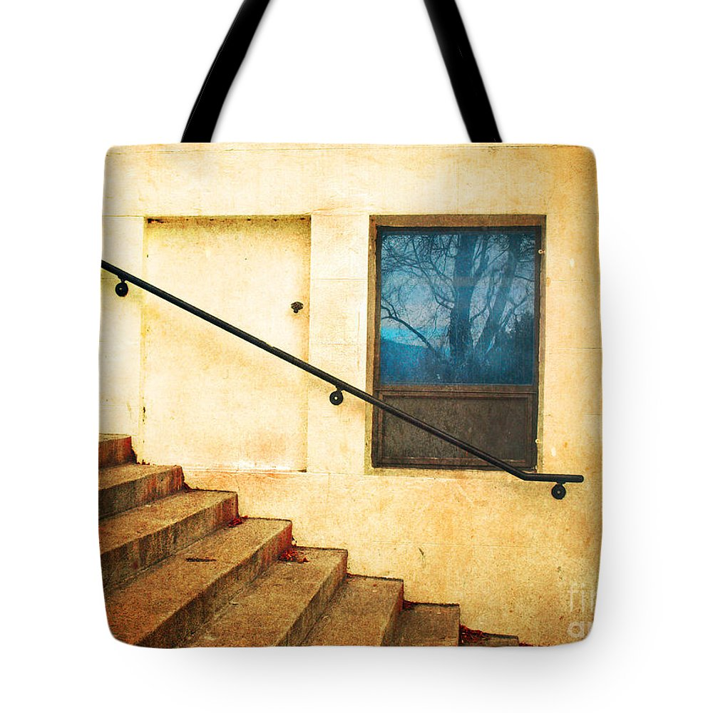 Stairs Tote Bag featuring the photograph The Stairway Of Reflections by Tara Turner